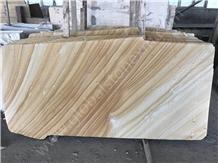China Beige Wood Vein Sandstone for Exterior Decor