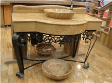 Dragon Brown Sinks,Wooden Brown Sinks,Marble Bowls