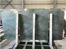 Elegant Peacock Green Granite Slab Exterior Decor