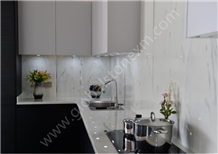 Exotic Calacatta White Nano Glass Stone