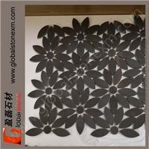 Flowers Mosaic Apple Grey Sandstone