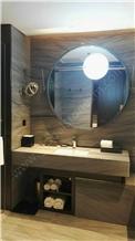 Gem Grey Quartzite Bathroom Vanitytops Custom