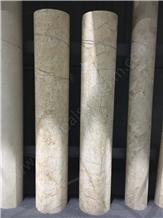 Golden Spider Marble Column Hotel Elegant