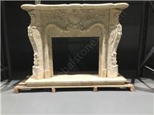 Golden Spider Marble Fireplace Elegant
