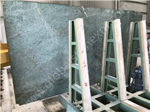 Hotel Project Iran Peacock Green Granite Slab Tile
