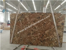 India Alaska Gold Granite Slab Exterior Decoration