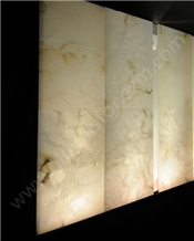 Iran White Alabaster Slabs Tiles Translucent Magic