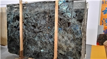 Labradorite River Blue Granite Slab Interior Decor