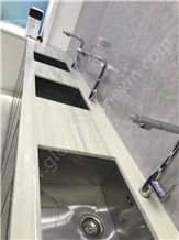 Light Grey Timber Nano Glass Stone Slabs Tiles