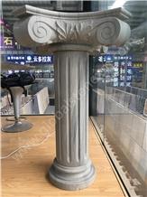 Marvelous Gem Grey Quartzite Sculptured Columns
