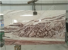 Onice Rosso Tanganic Light Slabs for Feature Wall