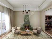 Peacock Green Slabs Tile for Custom-Made Furniture