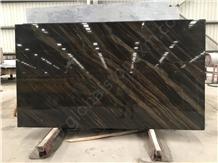 Quicksand Brown Granite with Gold Veins Slab