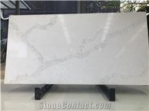 Statuario Marble Look Quartz Stone Slabs, White Quartz Kitchen Slabs