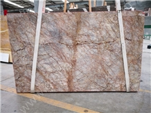 Violet Gold Purple Marble Slab Interior Decoration