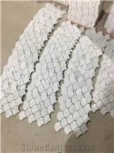 White Mosaic,Volakas White Marble Mosaic