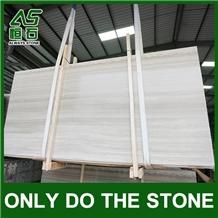 White Wooden Marble Slab/Tile