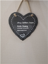 Personalised Laser Engraved Heart Shap Slate Gifts