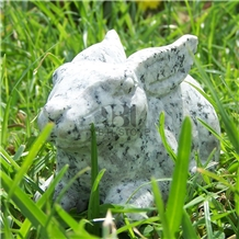 Animal Sculpture, Granite Hand Carved for Outdoor