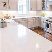 Most Popular Cashmere Carrara Quartz Prefab Counter