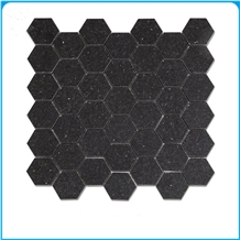 Black Galaxy Hexagon 48mm Polished Mosaic