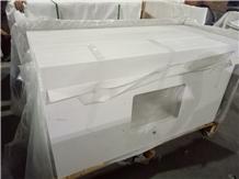 Stellar White Quartz Countertop Polished Surface