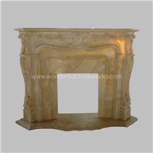 Fireplace Mantel Surround Yellow Onyx Hearth