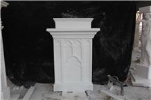 Hunan White Marble Ambo Church Altar Furnishing