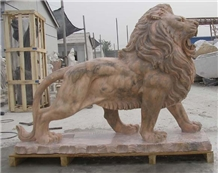 Marble Lion Sculptures Animal Stone Statues