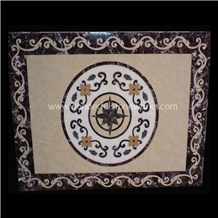 Marble Square Waterjet Medallion Floor Pattern