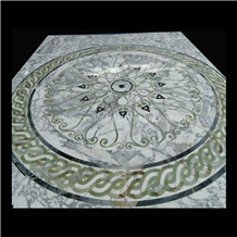 Waterjet Medallion Inlaid Round Pattern Floor Deco