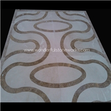 Waterjet Medallions Abtract Pattern Floor Decor