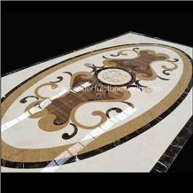 Waterjet Medallions Oval Pattern Floor Decor