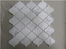 Carrara White Marble Arabesque Pattern Mosaic