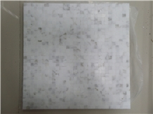 Carrara White Marble Square Mosaic Tiles