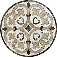 Decorative Waterjet Cut Medallion Carpet