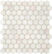 Dolomite Hexagon Classic White Marble Floor Mosaic