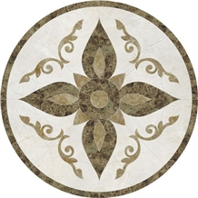 Marble Decorative Waterjet Cut Round Medallions