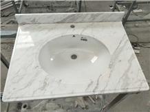 White Marble Bathroom Countertops Vanity Tops