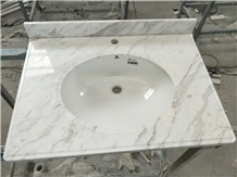 White Marble Kitchen Custom Countertops