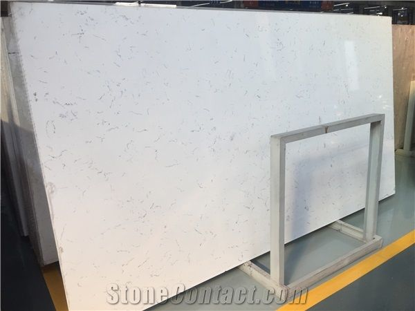 White Quartz Stone Slabs Floor