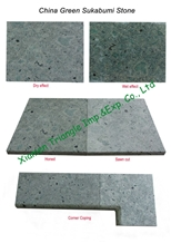 China Green Sukabumi Stone Swimming Pool Tiles