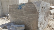 Silver Travertine Stone, Turkey Silver Travertine Block