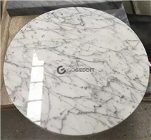 Carrara White Round Marble Table Top