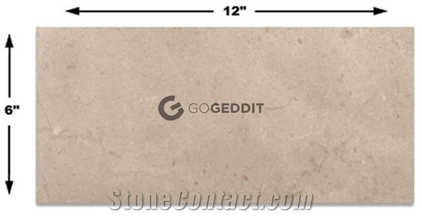 Crema Marfil Polished Marble 6x12 Subway Tile From China