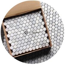 White Carrara Marble Hexagon Mosaic Tile Honed