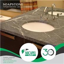 Mineral Black Soapstone Bathroom Top