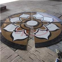 Big Petals Design Bulgari Brown Marble Waterjet