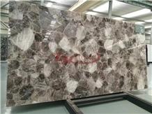 Classic Crystal, Grey Semiprecious Laminated&Glass