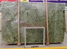 Dandong Green Marble Slabs, Green Agate Marble Tiles